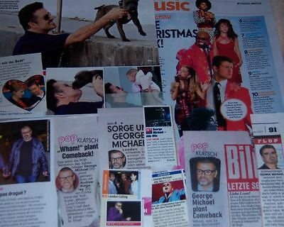 George Michael Wham 29 pc German Clippings Collection Full Pages french us