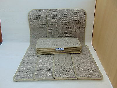 Carpet Stair pads /treads 50cm x 23cm 14 off and 2 Big Mats at 1m x 50cm 2216-6