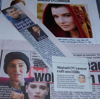 Sinead O'Connor 22 pc German Clippings Collection International
