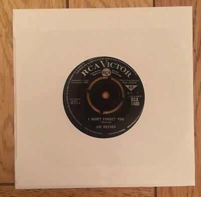 """Jim Reeves- I Won't Forget You- 7"""" Vinyl Record"""
