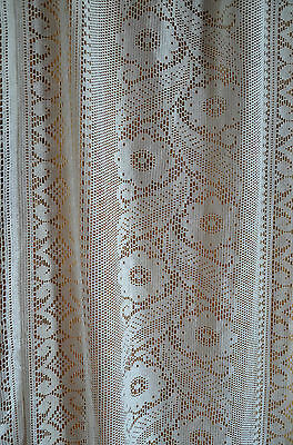 Vintage French lace curtain panel