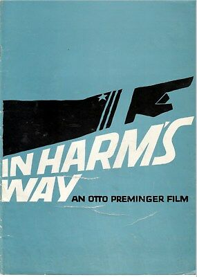 In Harm's Way Movie Programme 1965 John Wayne Kirk Douglas Patricia Neal War
