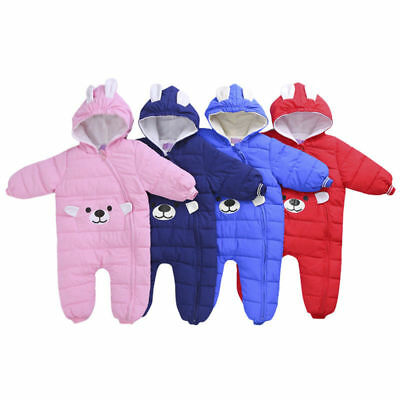 Toddler WARM Baby Boys Girls outerwear Hooded Winter Warm Jacket Down Snowsuit