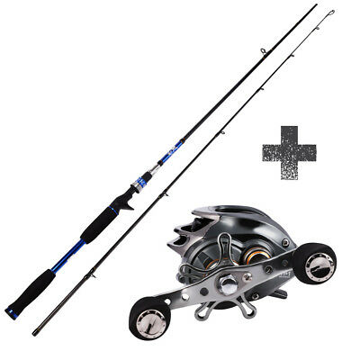 Casting Fishing Rod with Reel Combos Kits Baitcasting Left Right Fishing Kits