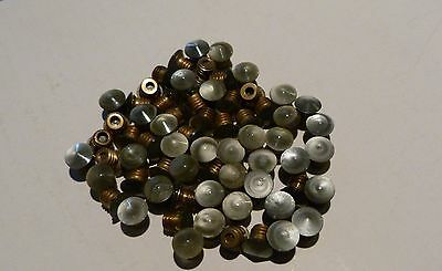 ONE Parker 51 ORIGINAL Clip jewel and Brass Bushing Screw