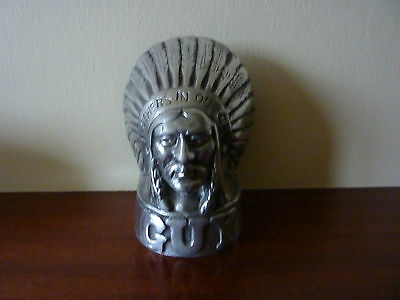 GUY MOTORS.  Indian mascot head.  Feathers in our cap.