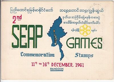 Burma: Illustrated Booklet of Stamps, 2nd SEAP Games, Rangoon, 11-16 Dec 1961
