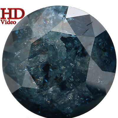 8.00 MM 2.22 Ct Natural Loose Diamond Cut Round Shape Blue Color I3 Clarity L561