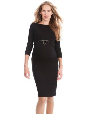 NWT NEW SERAPHINE Black Maternity Dress Size UK10