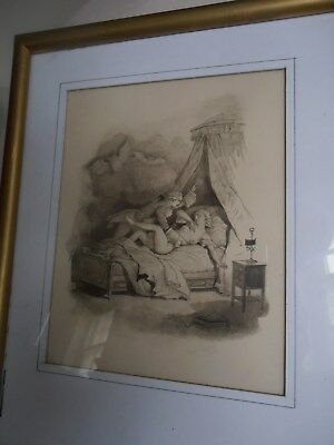 original pen and wash drawing unsigned possibly French