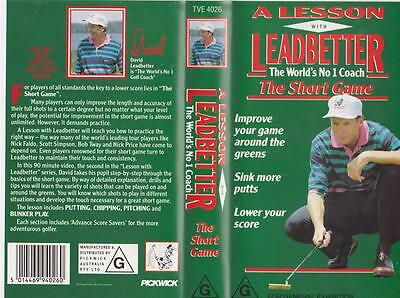 Golf Leadbetter The Short Game  Vhs Video Pal A Rare Find Mint Sealed