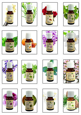 100% Pure Natural Organic Essential Oils 10ml (29 Varieties) - Aroma Therapy Oil