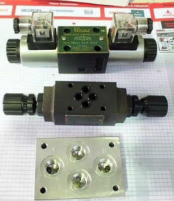 Hydraulic Solenoid Valve Cetop 5 12Vdc Or 24 Vdc 100 Lt/min 210 Bar