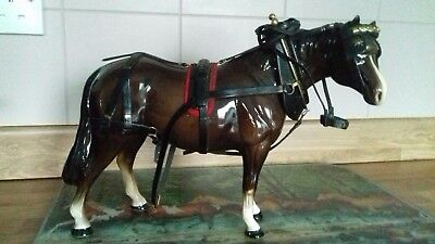 Melba Ware harnessed horse in excellent condition but tack needs TLC