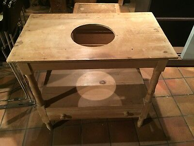 VICTORIAN RUSTIC PINE WASH STAND C1890, or HALL STAND, or for PLANT POT.