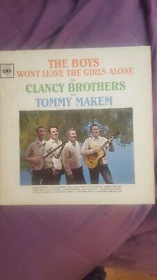 THE BOYS WON'T LEAVE THE GIRLS ALONE CLANCY BROTHERS AND TOMMY MAKEM Orig.LP CBS