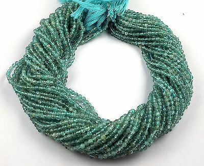 "5 Strands Apatite Smooth Balls Shape Gemstone Rondelle Beads Size 2-3mm 13"" Long"