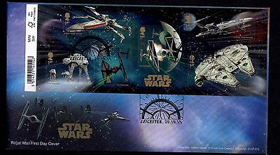 2015 GB Royal Mail Star Wars Mini Sheet First Day Cover Unaddressed