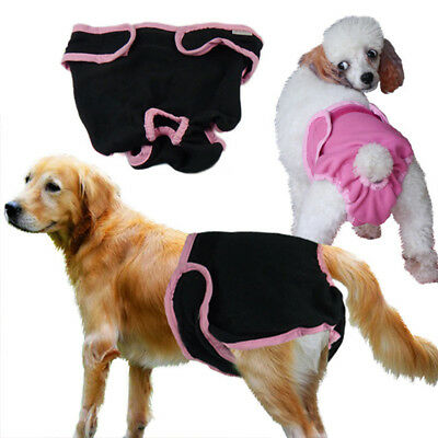 Female Pet Dog Puppy Washable Diaper Pants Menstrual Sanitary Nappy Healthy