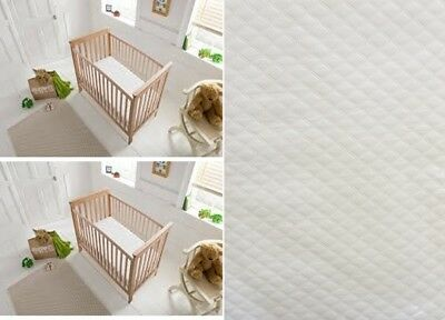 LUXURY COT COT DOUBLE STITCHED MEMORY FOAM  MATTRESS MICROFIBRE CASING 95x65x7.5