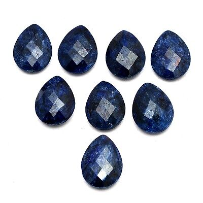 8 Pcs of Faceted Dyed Blue Sapphire Pear Shape Approx 20x15mm Loose Gemstones