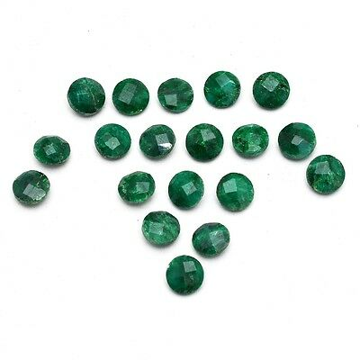 19 Pcs Lot of Faceted Dyed Emerald Round Shape Approx 8mm Loose Gemstones