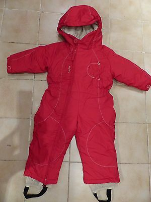 Combinaison ski enfant WED'ZE Oxylane rouge taille 2 ans