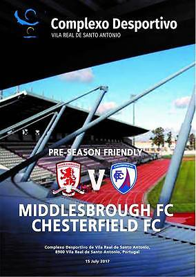 Prog. Middlesbrough v Chesterfield 15.07.2017 Friendly in Portugal. Unofficial
