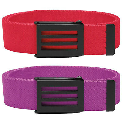 Adidas CLEARANCE 3-Stripes Buckle Performance Webbing Canvas Golf Belt One Size