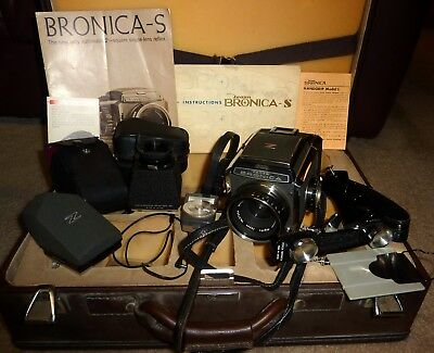 Zenza Bronica S Camera, Nikkor-P 75Mm, Film Back,prism Finder & More, Needs Help