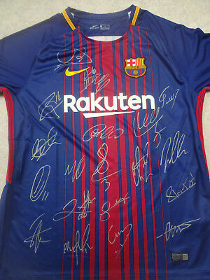 BARCELONA signed soccer jersey 2017-2018 with coa signed football shirt MESSI