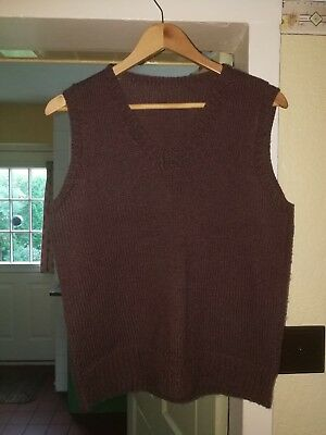 1940s Hand Knit Vintage Tank Top Pullover Jumper WW2