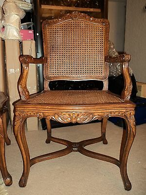 Antique Solid Mahogany Cane Back/cane Seat Dining Chairs - Set Of 6
