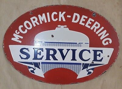 """Porcelain Mc_CORMICK  Sign SIZE 24"""" X 13"""" INCHES DOUBLE SIDED"""