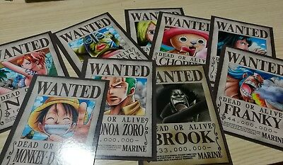 Target Wanted One Piece Strawhat crew MARINE DEAD OR ALIVE Eichiiro Oda