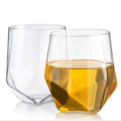 New 2x Crystal Wine Glass Cup Beer Whiskey Rum Scotch GLASSES Drinking Cup