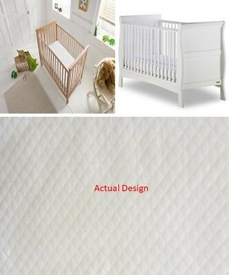 Cotbed Memory Foam  Mattress Microfibre Casing Double Stitch Baby Toddler 10Cm