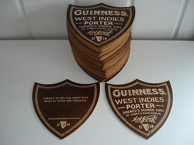 """Guinness Beer Mats/coasters"""" West Indies Porter """" Plywood  New. Rare  X50"""