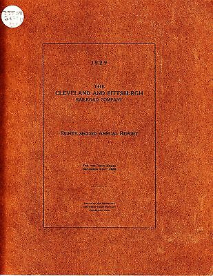 The Cleveland and Pittsburgh Railroad Company 82nd Annual Report 1929