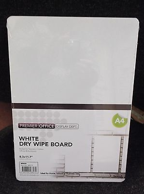 A4 Double Sided White Drywipe  Board - ideal for teachers,children & businesses
