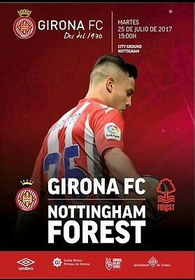Programme Nottingham Forest v Girona Spain 25.07.2017 Friendly. Unofficial