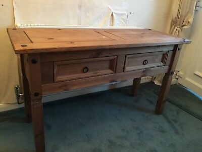 Pine Hall Console Table With 2 Drawers Collect B75