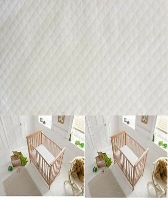HIGH QUALITY COT COTBED MEMORY FOAM  MATTRESS MICROFIBRE CASING 13cm DEPTH BABY