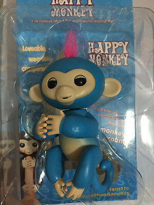 Blue Fingerlings Interactive Finger Monkey Touch Motion Baby Kids Toy Gift