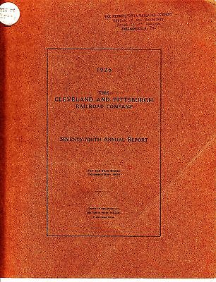 The Cleveland and Pittsburgh Railroad Company 79th Annual Report 1926
