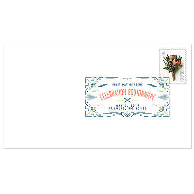 USPS New Celebration Boutonniere Digital Color Postmark