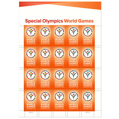 New USPS Special Olympics Full pane