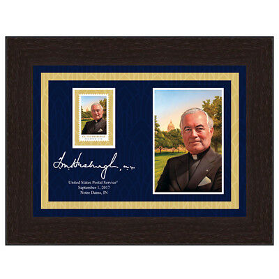 USPS New Father Theodore Hesburgh Framed Art