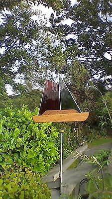 stained glass  windvane for garden or shed