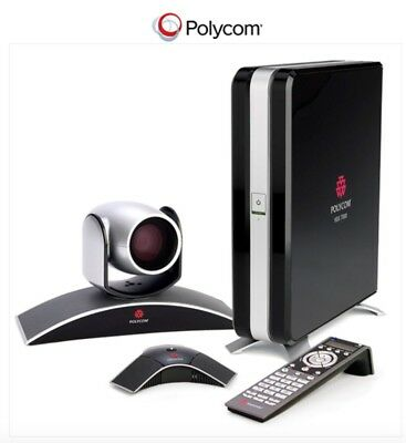 Polycom HDX 7000 HD Video Conferencing System w/ MPTZ-6 Camera, Mic Pod, Cables